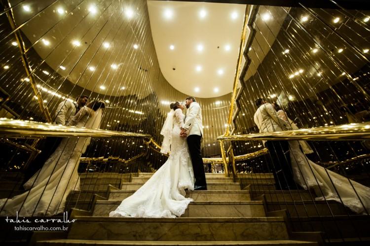 Casamento de Aline e Gabriel, no hotel Tivoli