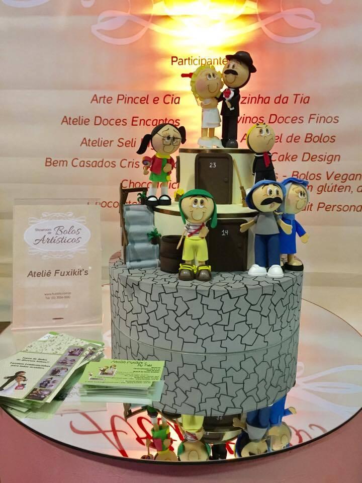 Se os noivos são fãs do Chaves já podem apostar neste bolo da turma da vila