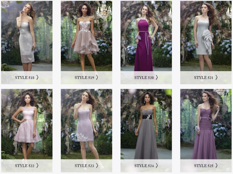Para madrinhas e damas de honra, há diferentes modelos disponíveis (Reprodução)
