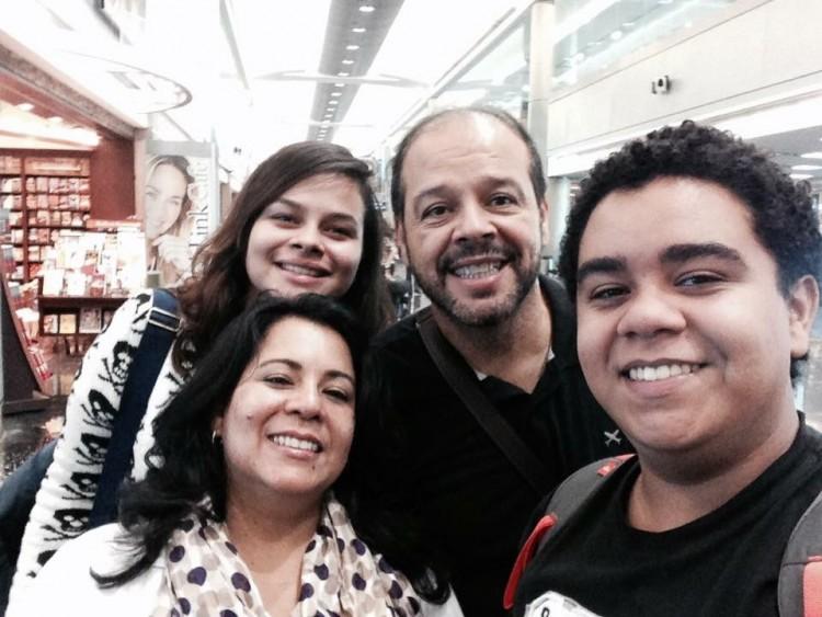 Edson e Marcia com os filhos Danielle e Pedro (Arquivo pessoal)