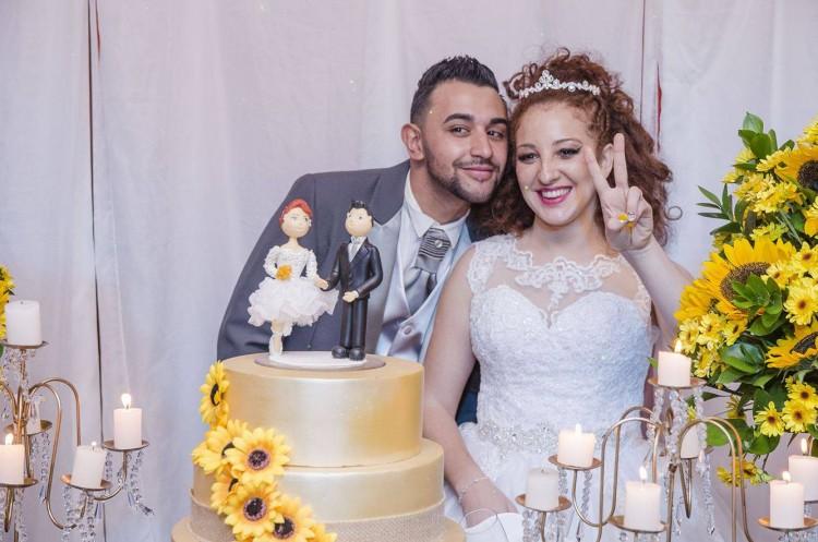 Rubia e Felipe casaram em setembro deste ano; uma semana antes, ela descobriu gravidez (Arquivo pessoal)