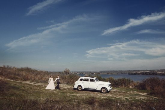Casal ao ar livre