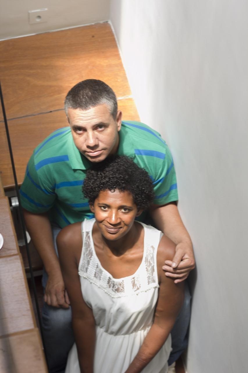 Edson e Eunice, prestes a se casarem, são sorodiscordantes e dizem querer ficar juntos para sempre (Arquivo pessoal)
